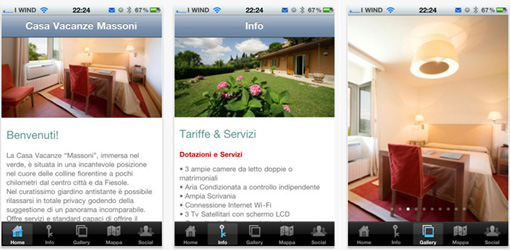 App iphone Casa vacanze
